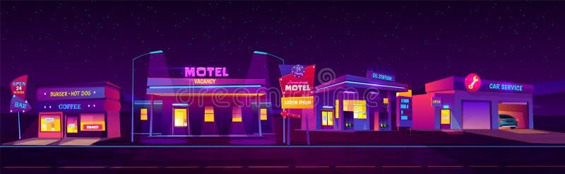 Motel da noite e acomoda??o do servi?o para turistas ilustração do vetor