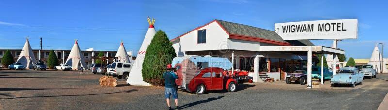 Motel da tenda na rota histórica 66 imagem de stock royalty free