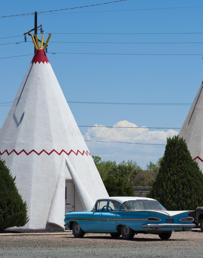 Motel da tenda, Route 66 fotografia de stock