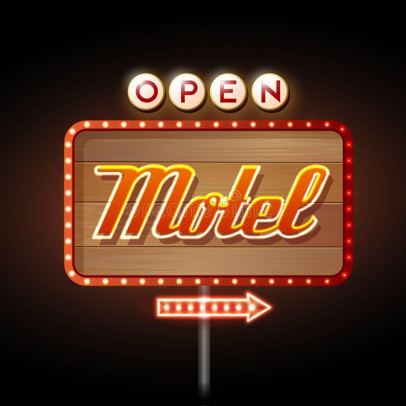 Motel de la señal de neón ilustración del vector