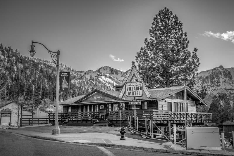 Motel de lac june - ?v?que, Etats-Unis - 29 mars 2019 image stock