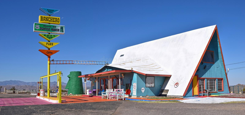 Motel del Ranchero, Kingman, Route 66 fotografia stock libera da diritti
