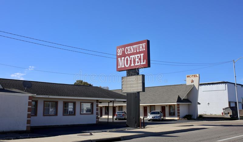 Motel del siglo XX, Memphis del oeste, Arkansas fotografía de archivo libre de regalías