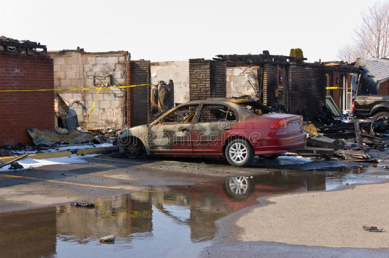 Download Motel Fire stock photo. Image of services, disaster, destroyed - 4962864