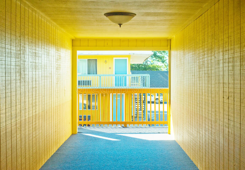 Download Motel hallway stock photo. Image of cheap, roadside, cost - 21688642