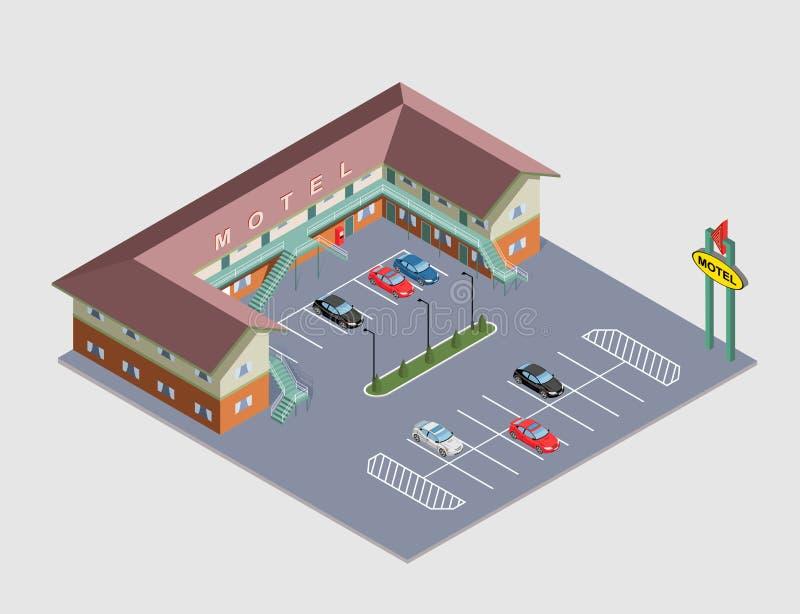 Motel isométrico del ejemplo libre illustration