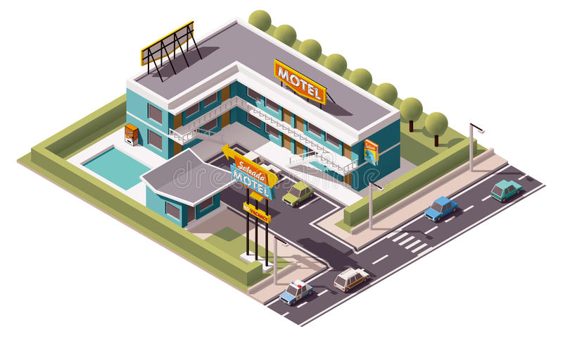 Motel isométrico del vector libre illustration