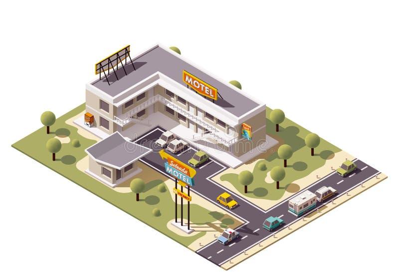Motel isometrico di vettore royalty illustrazione gratis
