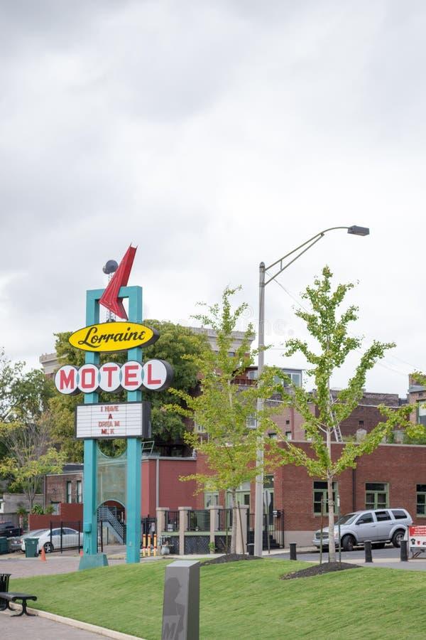 Motel-Lothringen-Zeichen lizenzfreies stockbild