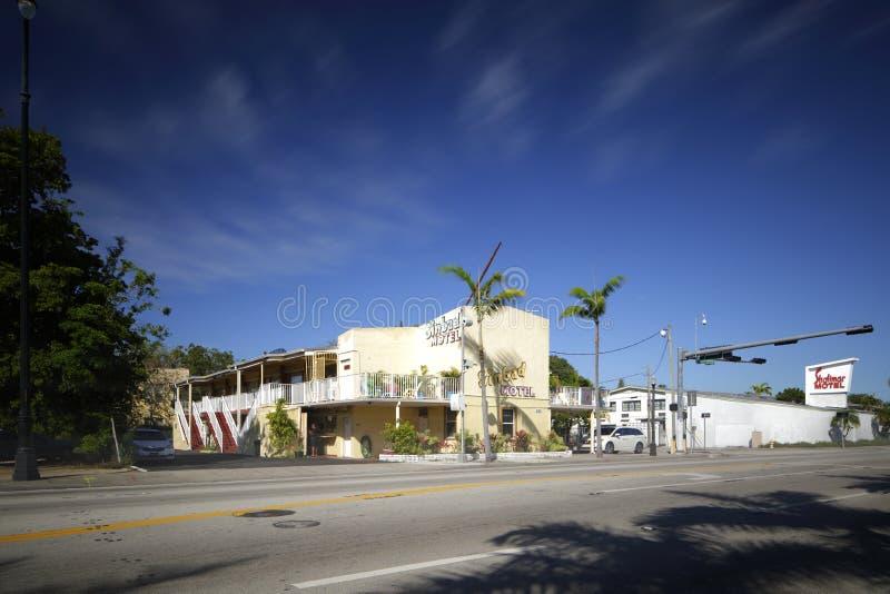 Motel Miami de Sinbad fotografía de archivo