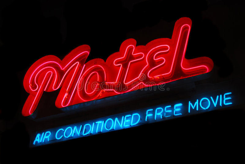Download Motel Neon Sign stock photo. Image of vintage, motel, advertise - 5377566