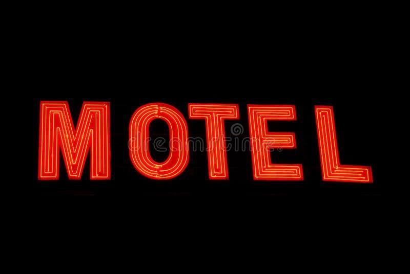 motel neon znak obrazy royalty free