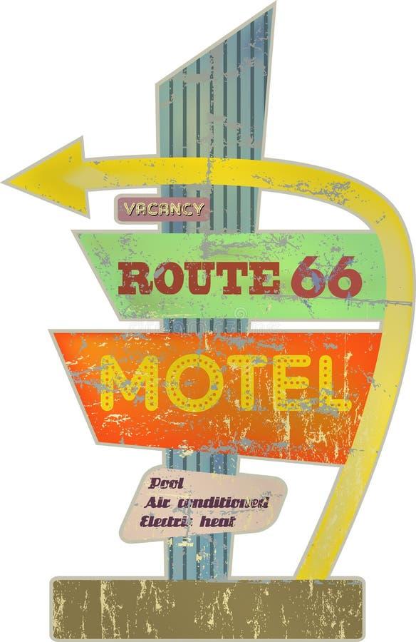 Motel retro ilustración del vector