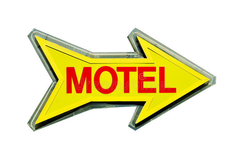 Download Motel sign stock image. Image of advertisement, shaped - 21880953