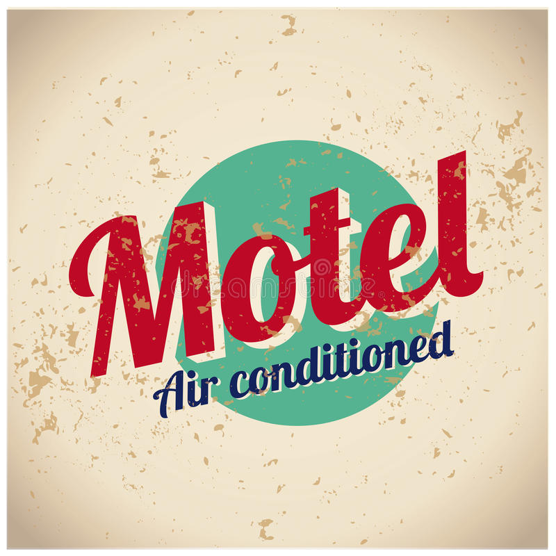 Motel sign - Air conditioned vector illustration
