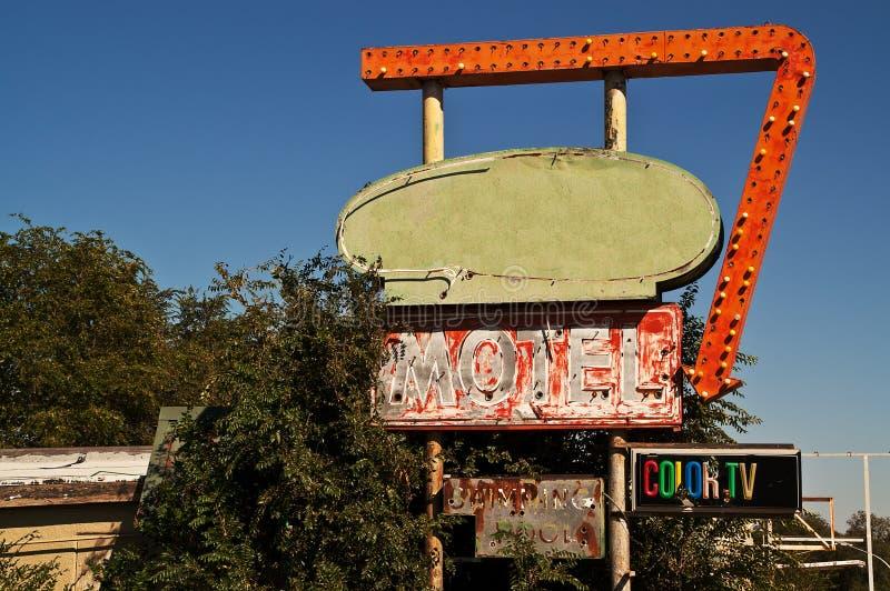Motel-Zeichen des Weg-66 stockfotos