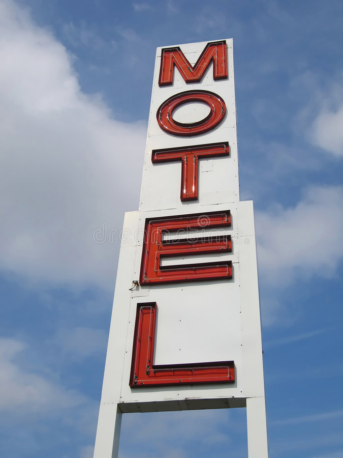 motel znak fotografia royalty free