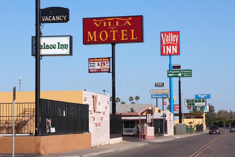 Motell i Förenta staterna royaltyfri bild