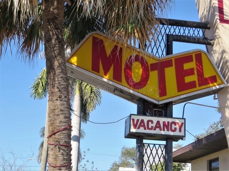 Motelzeichen, Tampa lizenzfreies stockfoto