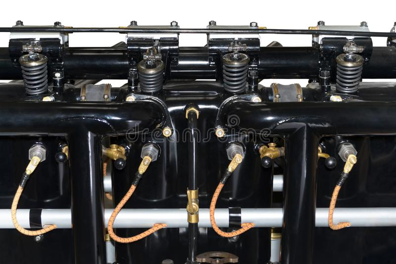 Moteur à piston pour l'avion image stock