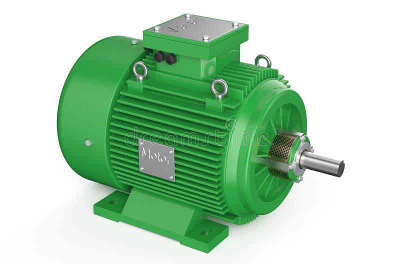 Moteur électrique industriel vert illustration stock