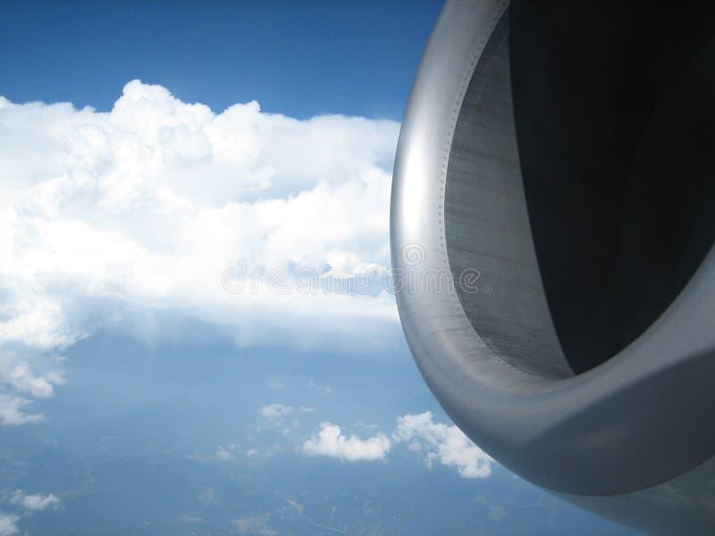 Moteur d'avion photographie stock libre de droits