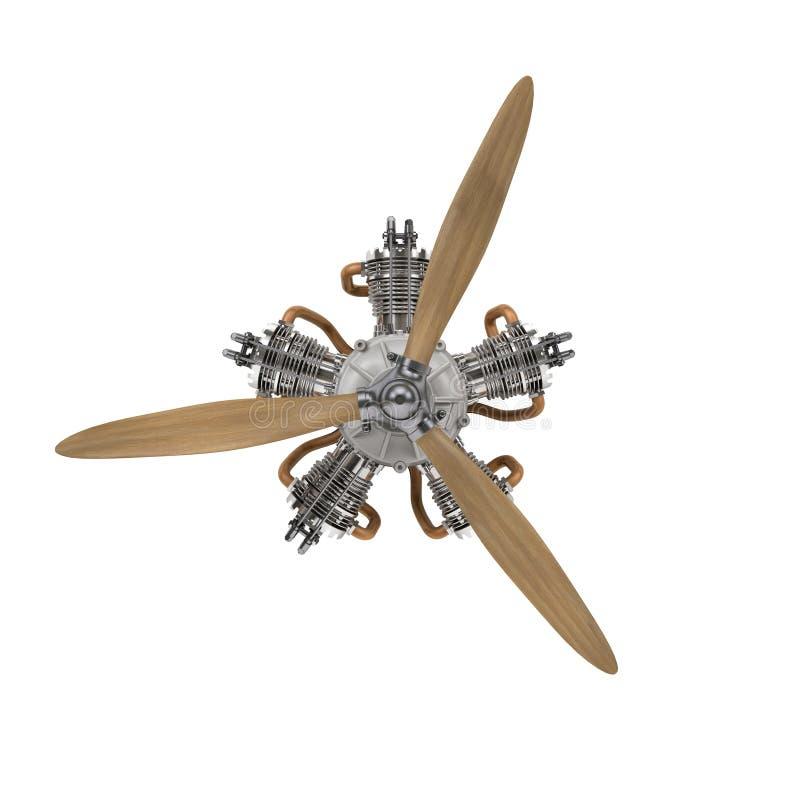 Moteur d'avions avec le propulseur illustration de vecteur