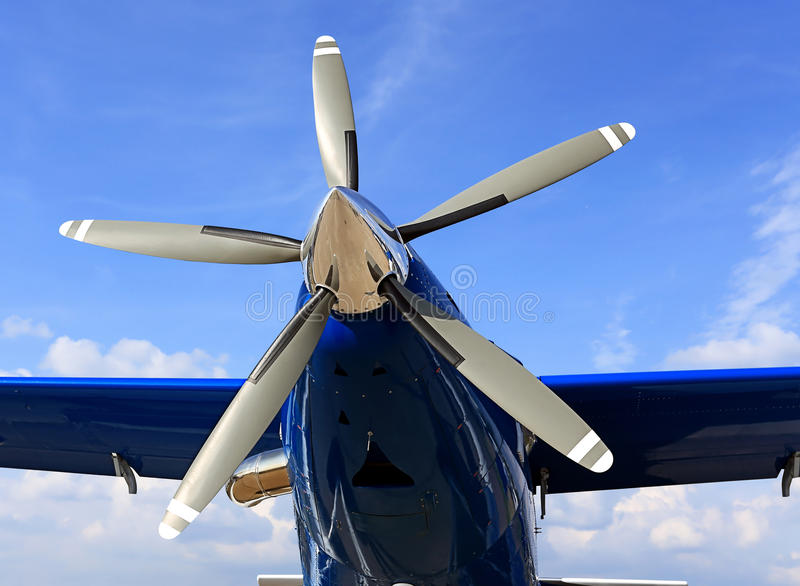 Moteur d'avions de piston photographie stock