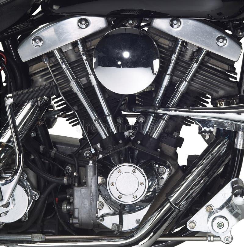 Moteur d'une motocyclette photo stock