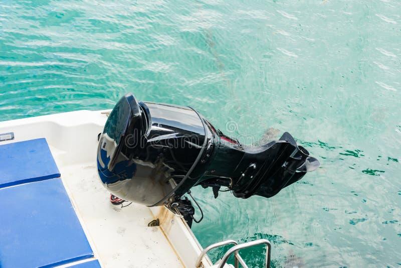 moteur de bateau de vitesse se levant  images libres de droits