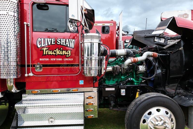 Moteur de Clive Shaw Truck découvert chez Truckfest photographie stock