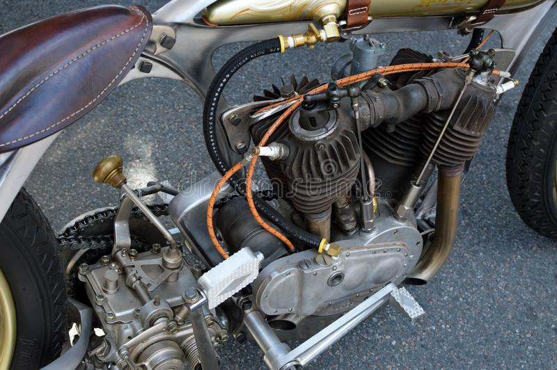 Moteur de Mortorcycle antique images stock