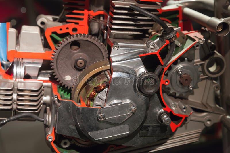Moteur de moto, modèle électrique de générateur photo libre de droits
