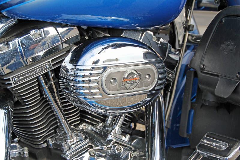 Moteur 1800 de motocyclette de cvo de Harley davidson photos stock