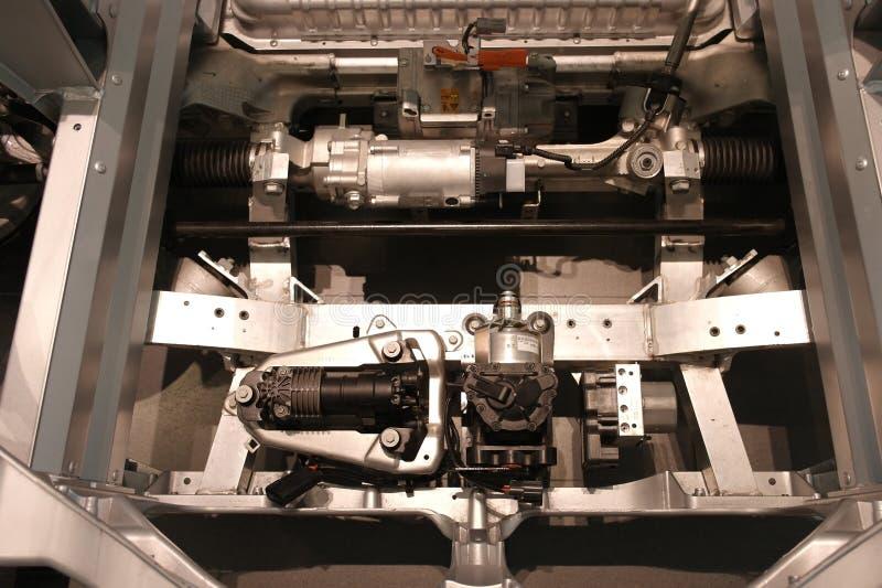 Moteur de voiture électrique images stock
