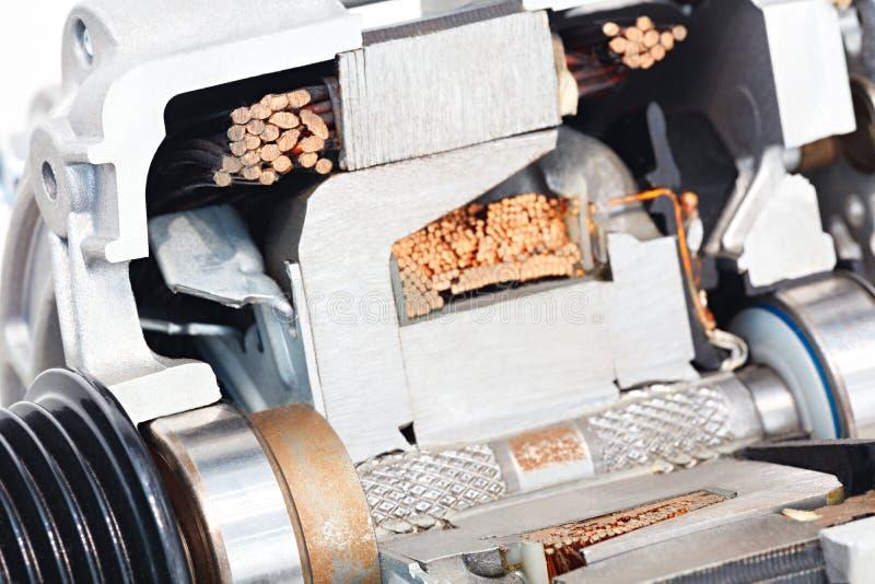 Moteur-générateur électrique dans une induction de redresseur d'enroulement d'ancre de section image libre de droits