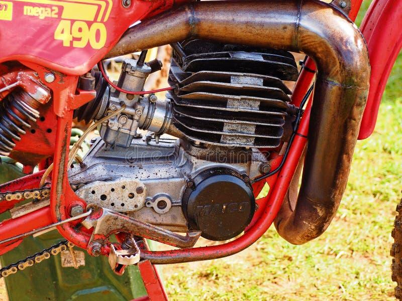 Moteur pré 1970 de vélo de saleté du ` s photographie stock