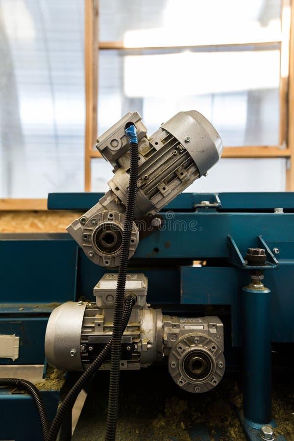Moteurs électriques de fin des véhicules à moteur industrielle d'équipement de machine-outil  photographie stock libre de droits