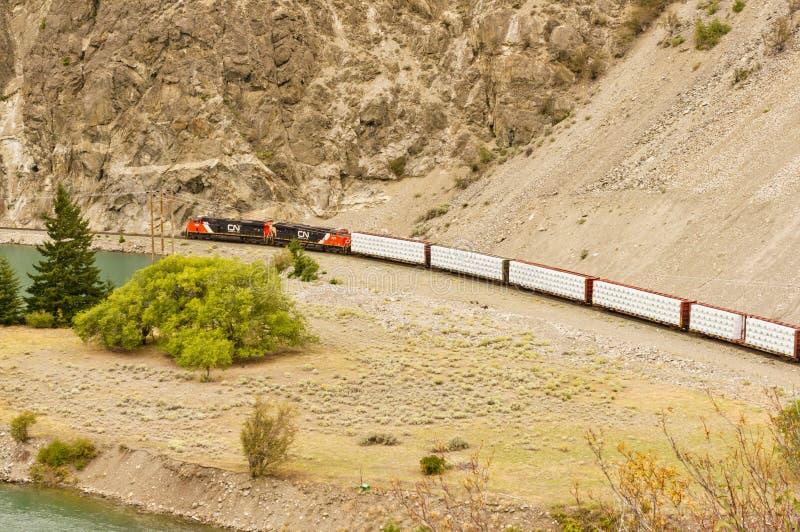 Moteurs ferroviaires tirant les transporteurs automatiques image libre de droits