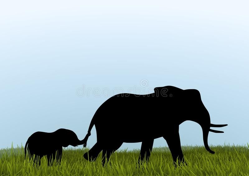 Mother African Elephant royalty free stock photos