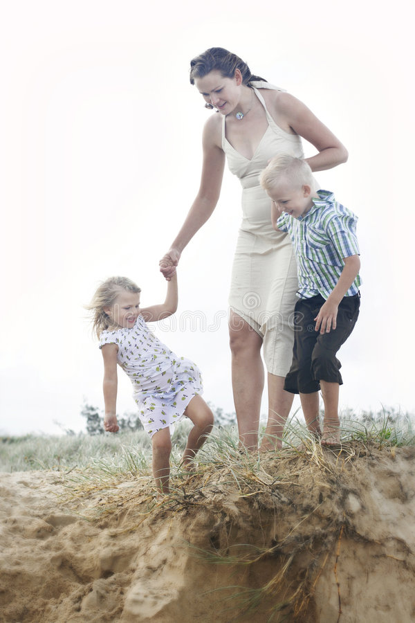 Free Mother And Children On The Beach Stock Photos - 8740253