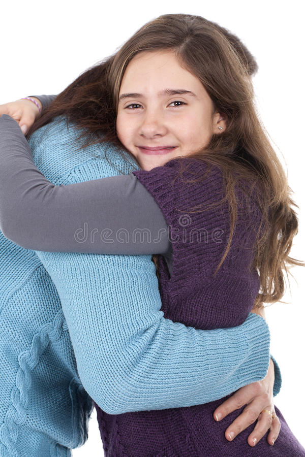 Free Mother And Daughter Hugging Stock Photo - 18208680