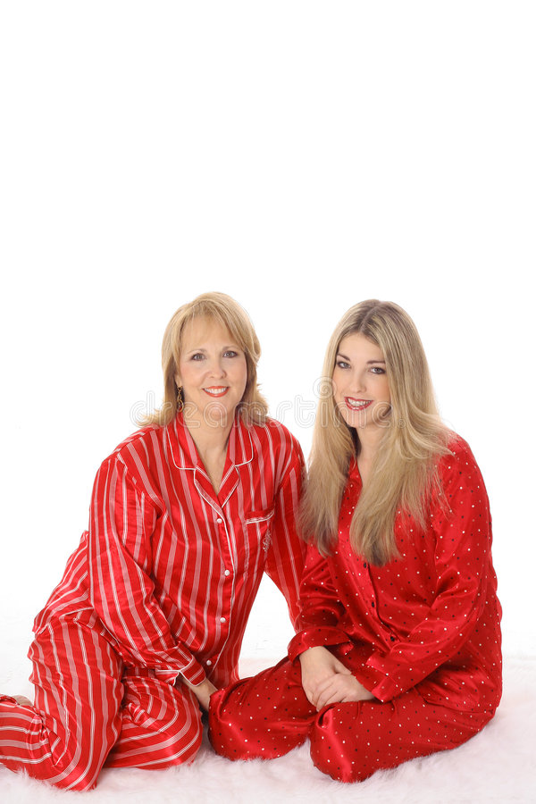 Free Mother And Daughter Sleepover In Pajamas Royalty Free Stock Photo - 6237865