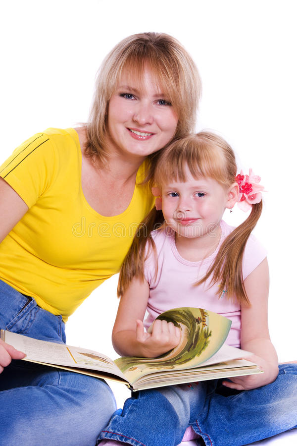 Free Mother And Daughter With Book Stock Photo - 16166790
