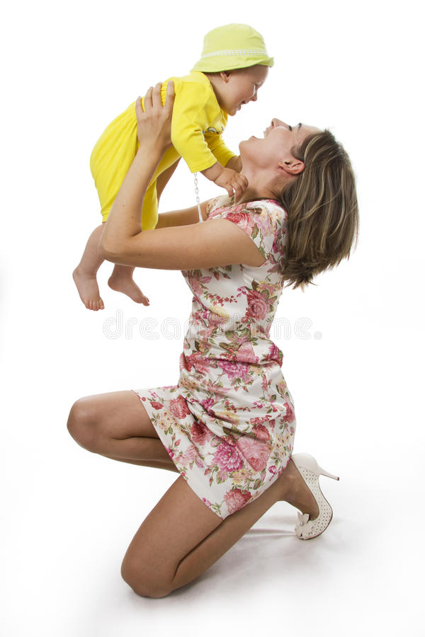 Free Mother And Son On White. Stock Photos - 23009713