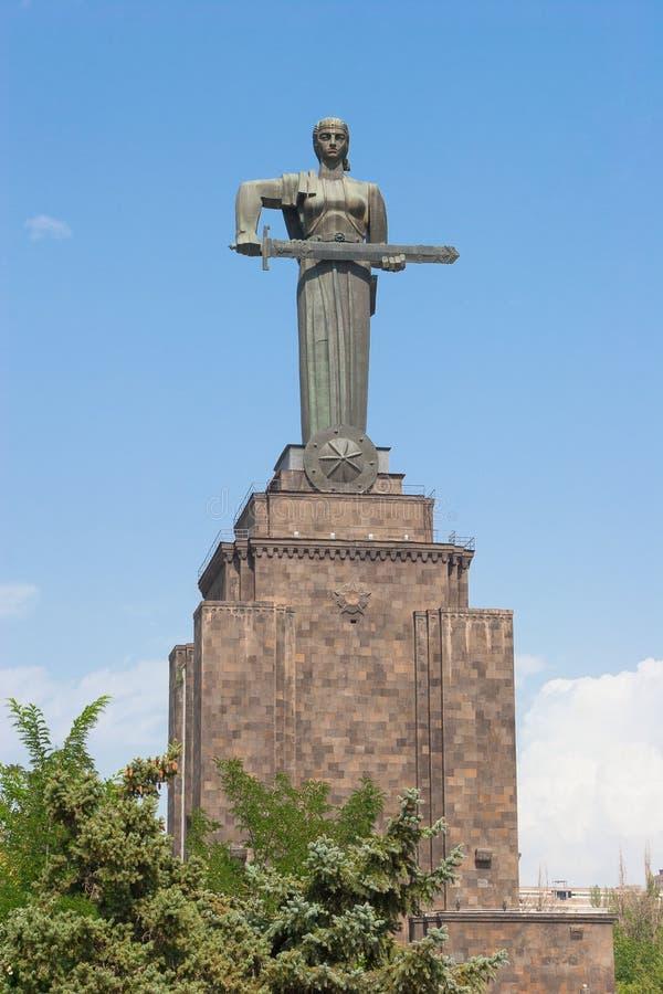 Mother Armenia statue stock photo