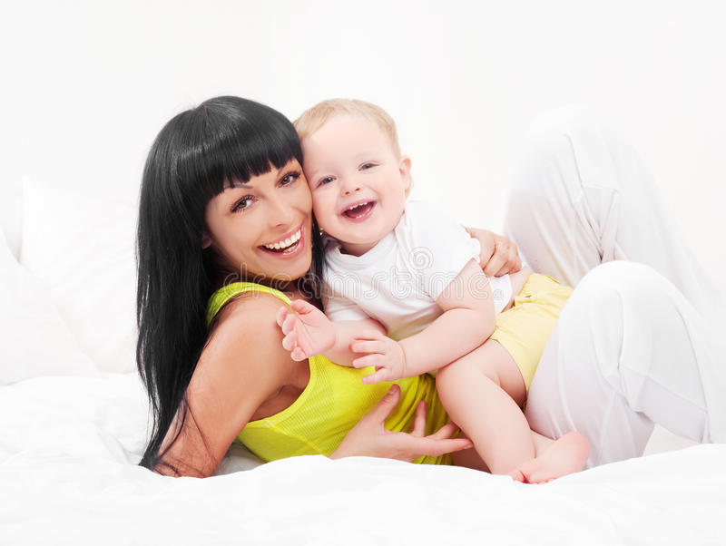 Download Mother and baby stock photo. Image of affection, laugh - 18465564