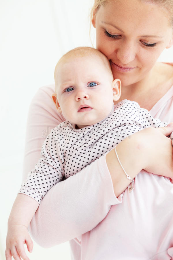 Download Mother with a baby stock image. Image of cheerful, baby - 26409125