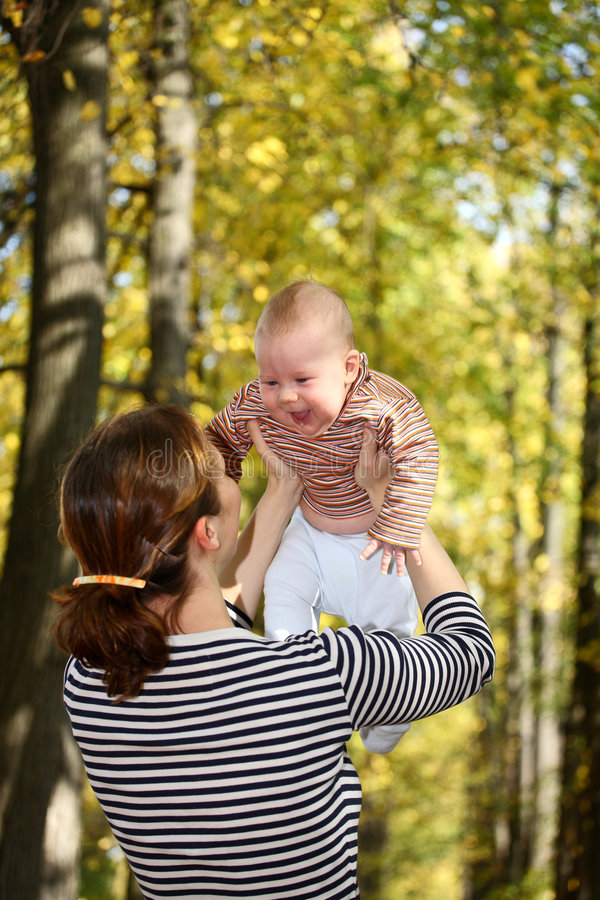 Mother and baby royalty free stock photo