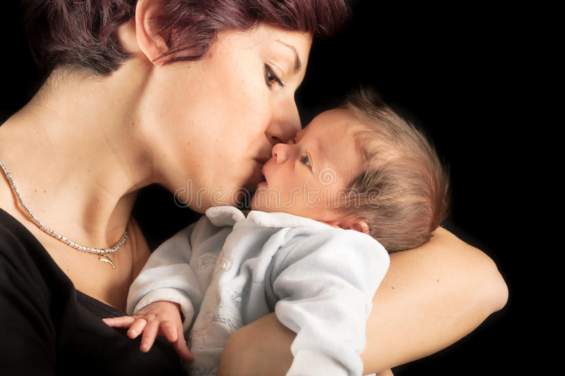 new mother and baby stock image